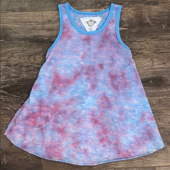 478f55c34d036 Little Girl's T2 Love Tie Dye Tank Top